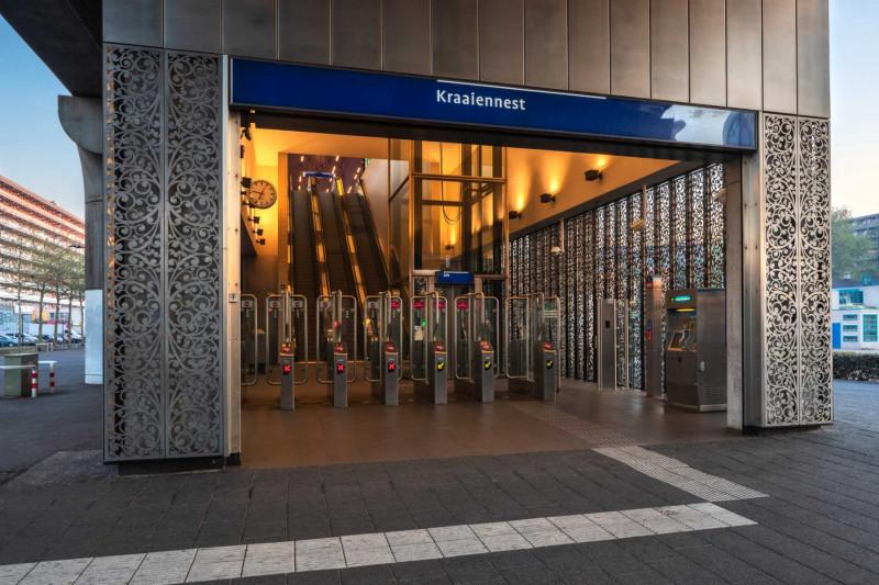 Amsterdam (NLD) - Metrostation Kraaiennest